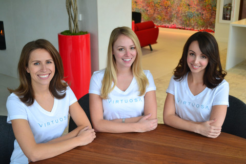Tamara, Caitlin and Alexandra, the women behind Virtuosa.