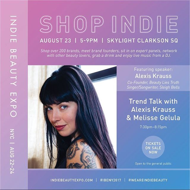 looking forward to next week's conversation with @melissejoy of @iamwellandgood at NYC's @indiebeautyexpo 💜 Link in profile for more information #truthbeauty