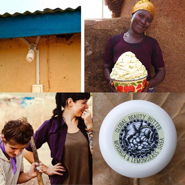 Big news!! Back in January of 2016 @best_coast and I traveled to Ghana and met the incredible women of the CMA Shea Butter Cooperative. Together with @global_mamas we launched Global Beauty Butter with the goal of raising funds to to be used by the shea producers for empowerment projects. Today we're thrilled to announce that sales of Global Beauty Butter have funded the extension of electricity to the shea butter processing center which now powers their grinding machine and provides security lighting.  Early in 2017, the Shea Helps Empower (SHE) Fund released the first round of funding for the most pressing project identified by the skilled shea producers of the CMA Shea Butter Cooperative to improve the safety and efficiency of their cooperative's production center. The women have already determined their next SHE Fund project – repairing the foundation and roof of the shea production center and to date we're 26% of the way there. You can treat yourself to the natural wonder of Global Beauty Butter and support this project at either @global_mamas or @truemoringa. Help us reach our goal! Link in profile ❤️