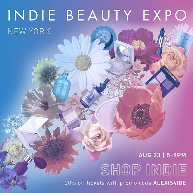 If you're in NYC be sure to come by the @indiebeautyexpo's SHOP INDIE event on Wednesday. I'll be talking #truthbeauty trends with @melissejoy of @iamwellandgood. Use promo code ALEXIS4IBE for tickets 💜