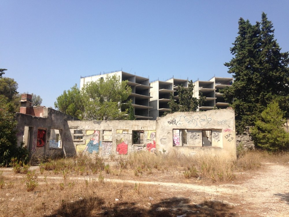 Abandoned construction in the Split 3 development of Trstenik.