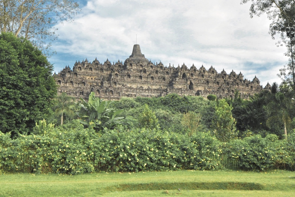 View of Borobudur from the temple grounds | www.idrawletters.com