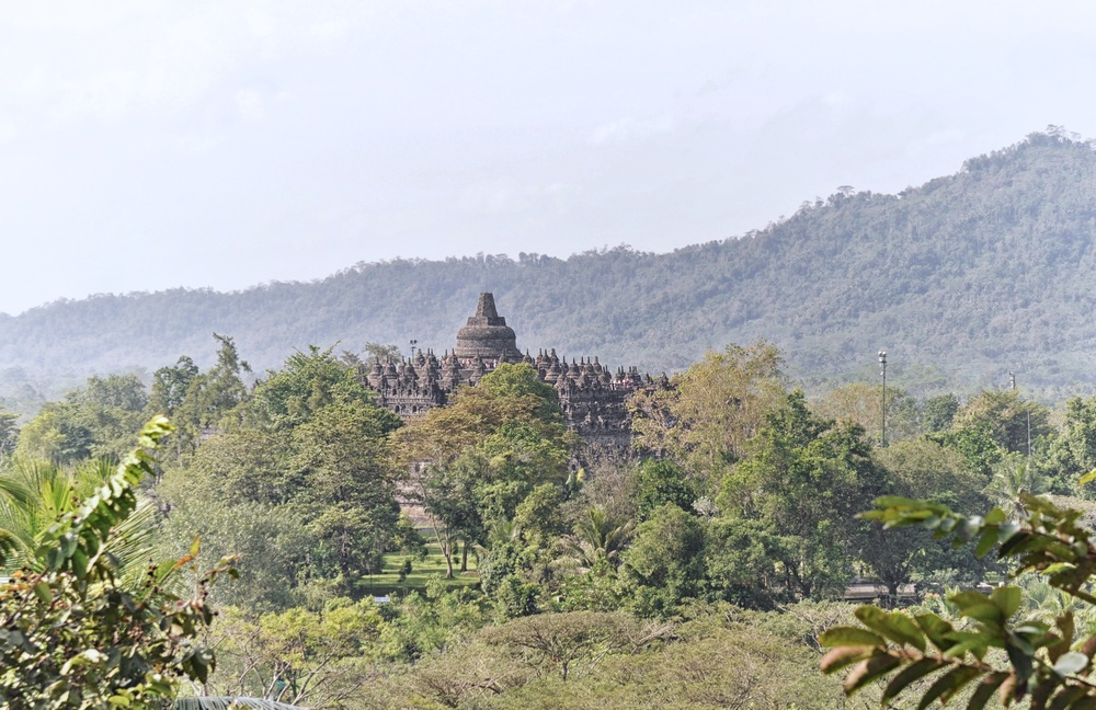 View of Borobudur from Dagi Hills | www.idrawletters.com