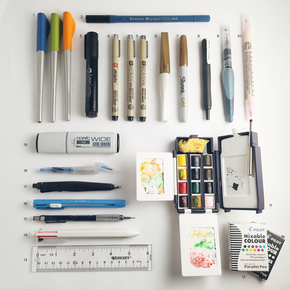 Travel friendly calligraphy supplies | www.chavelli.com