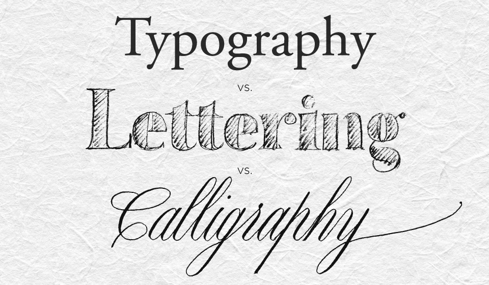 The difference between calligraphy lettering and type