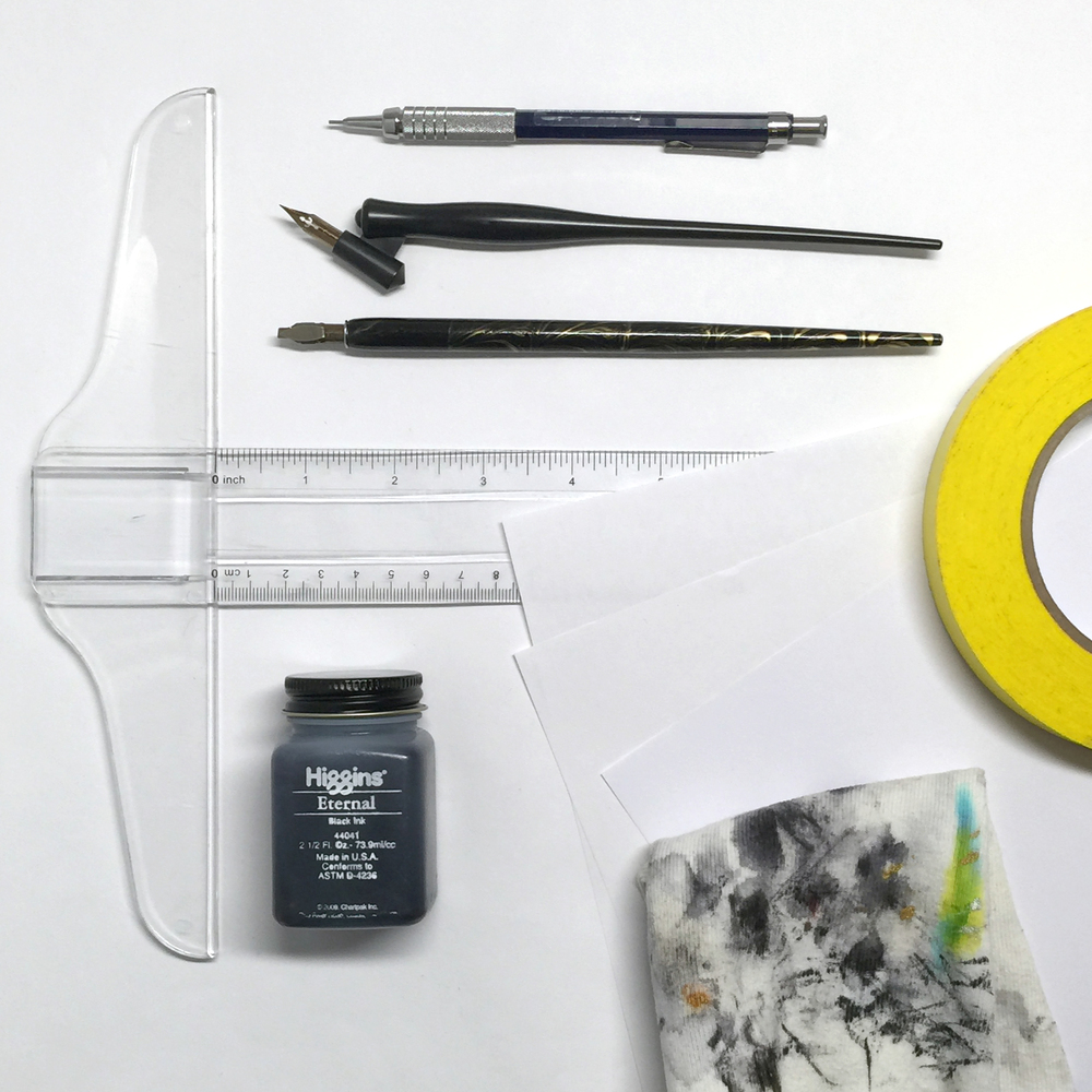 You don't need much to get started with calligraphy! Just a few basic items | www.idrawletters.com