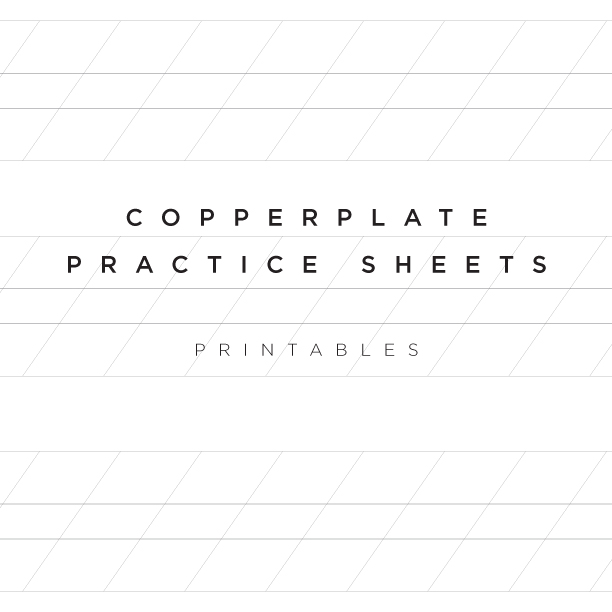 Printable Copperplate Calligraphy practice sheets | www.idrawletters.com
