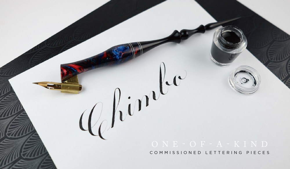 One-of-a-kind commissioned calligraphy and hand-lettering | www.idrawletters.com
