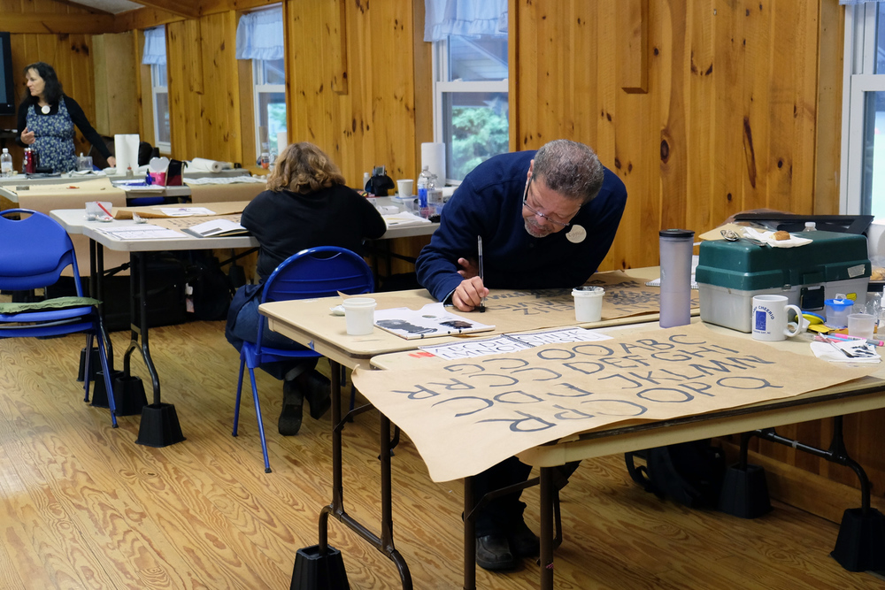 Calligraphy retreats at Camp Cheerio | www.idrawletters.com