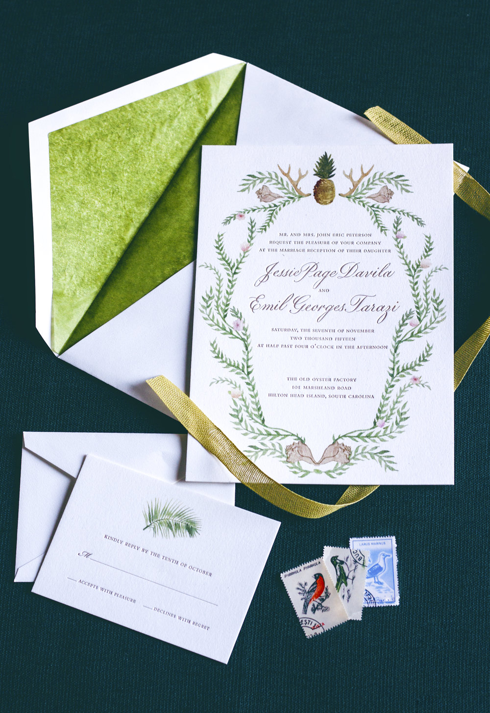 Custom designed wedding invitation suites by Chavelli | www.chavelli.com