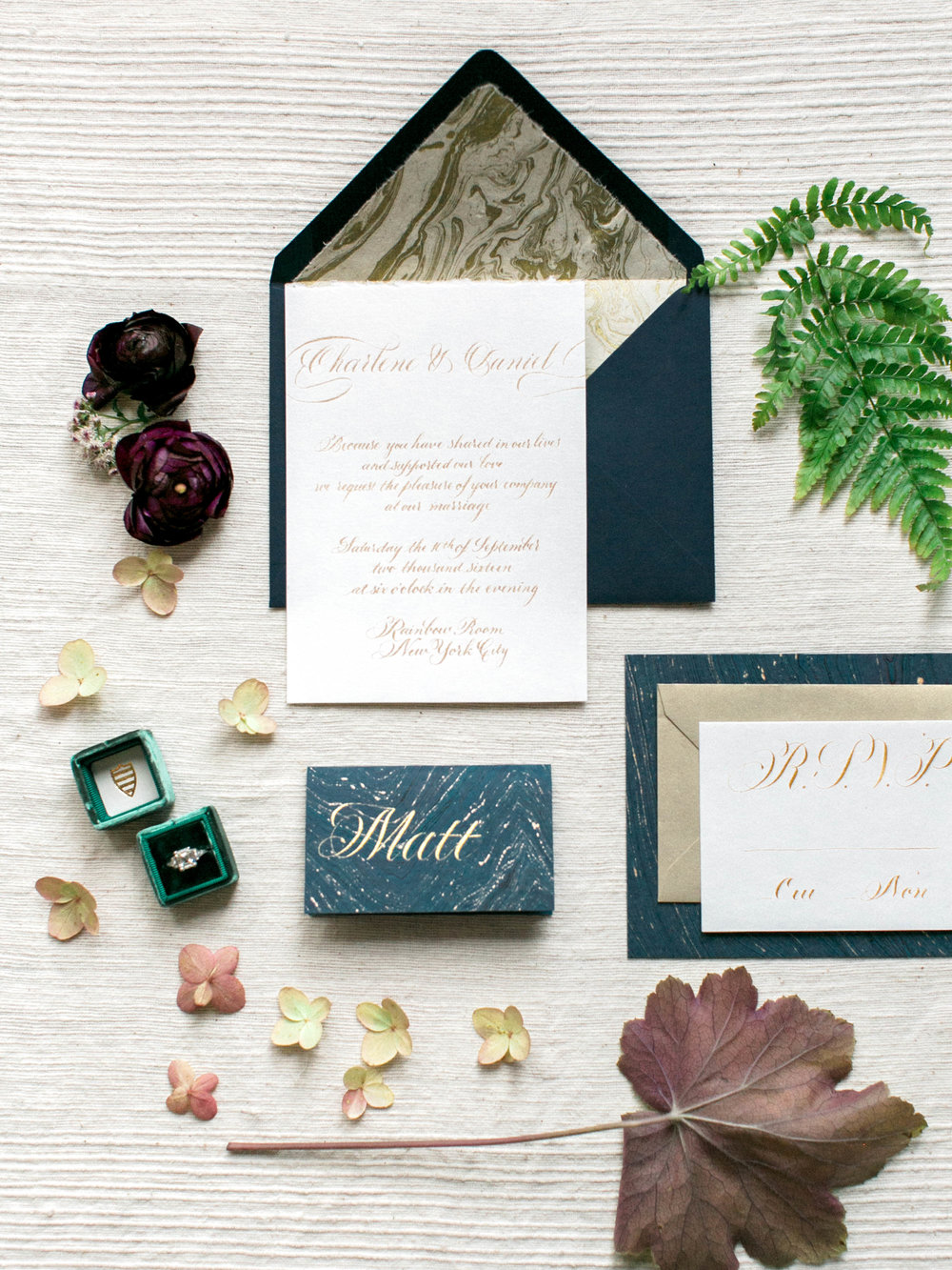 Calligraphy wedding invitation suite by Chavelli | www.chavelli.com