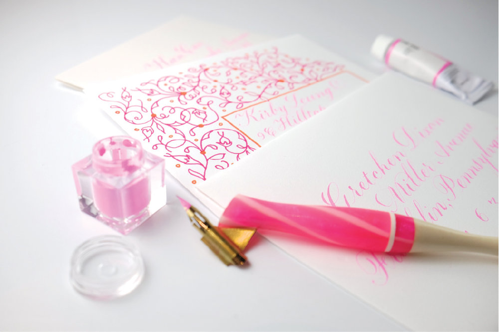 Creative calligraphy envelope addressing by Chavelli | www.chavelli.com