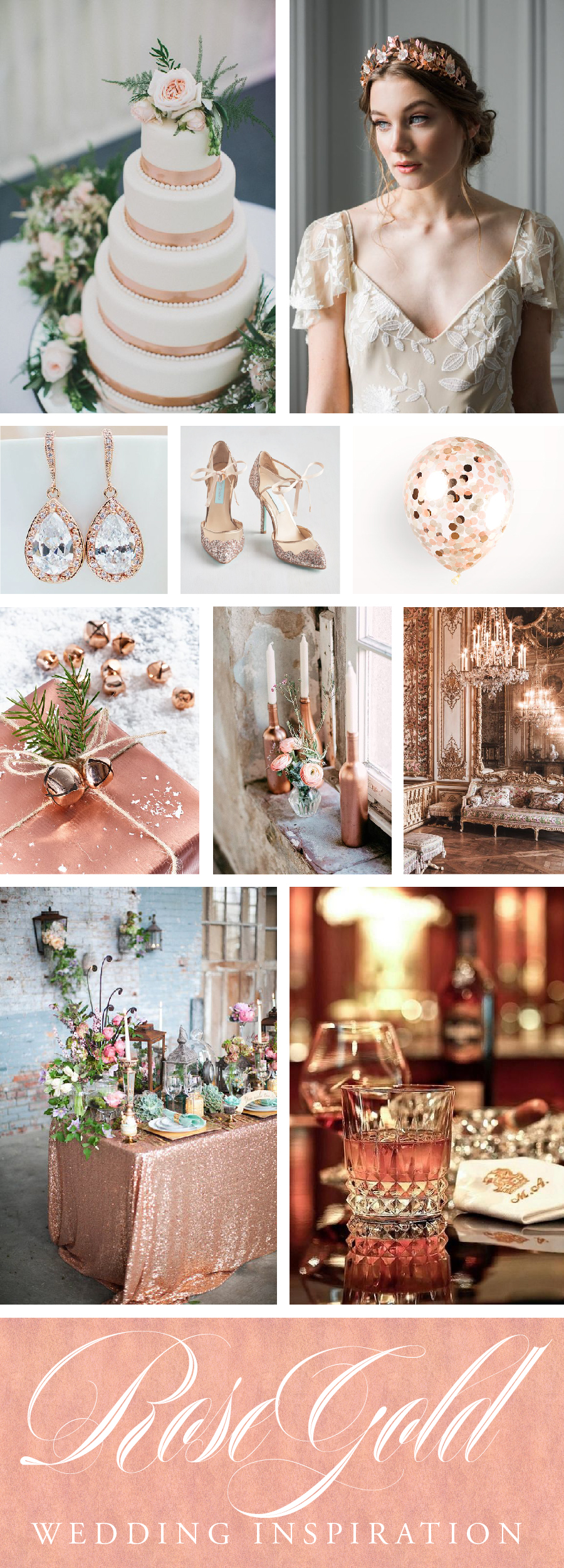 Add Rose Gold to your Wedding Day with this color palette inspiration // www.chavelli.com