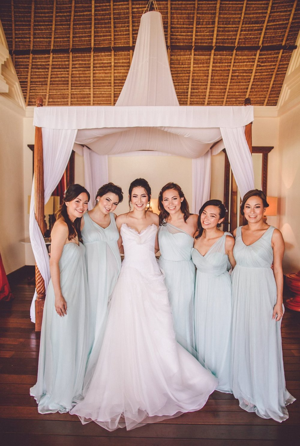Bridesmaids dresses by Christine Field-Hall | Photo by  Chris Spira
