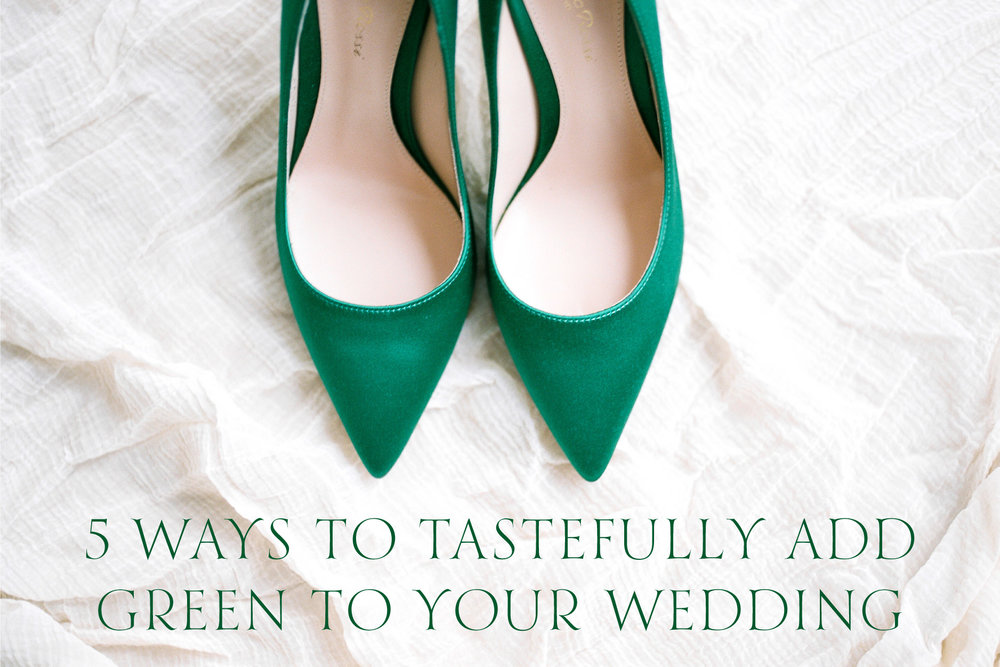 5 Ways To Tastefully Add Green To Your Wedding | www.chavelli.com