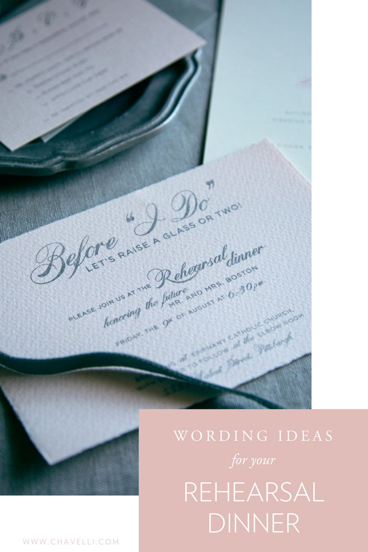 Wedding Rehearsal Dinner Wording Ideas