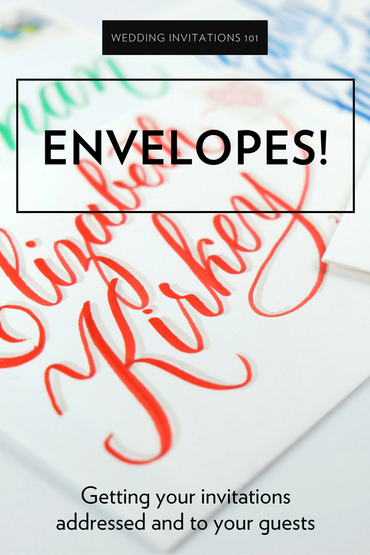 How to address envelopes for your wedding invitations