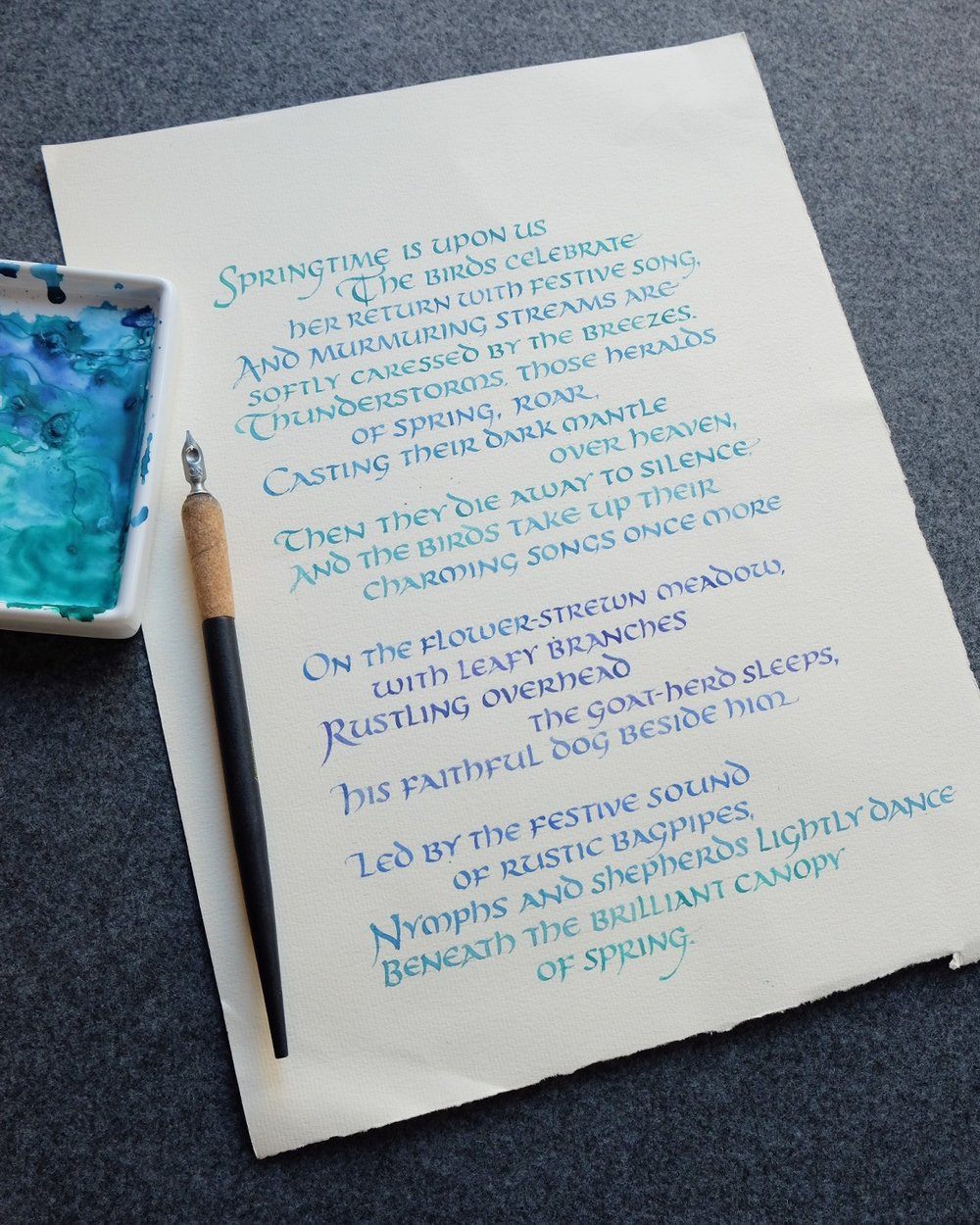 Poem in Calligraphy by Chavelli | www.chavelli.com