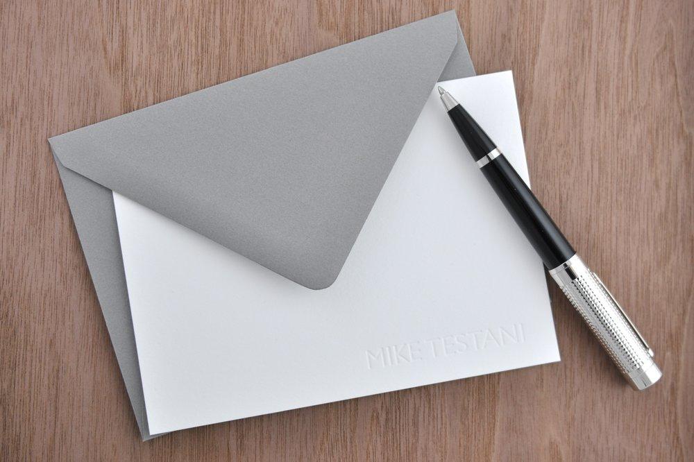 Letterpress Personal Stationery