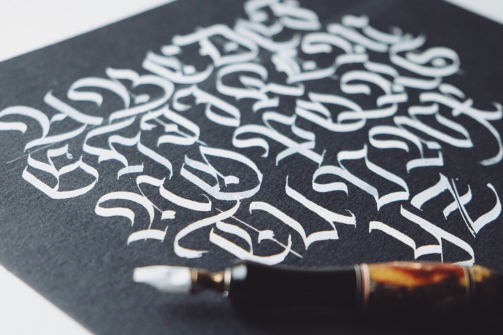 Fraktur blackletter calligraphy capitals // by Chavelli www.chavelli.com