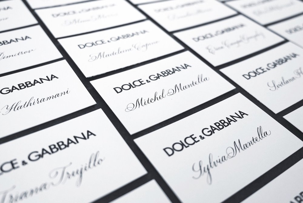 Dolce & Gabbana Milan Fashion Week place cards // by Chavelli www.chavelli.com