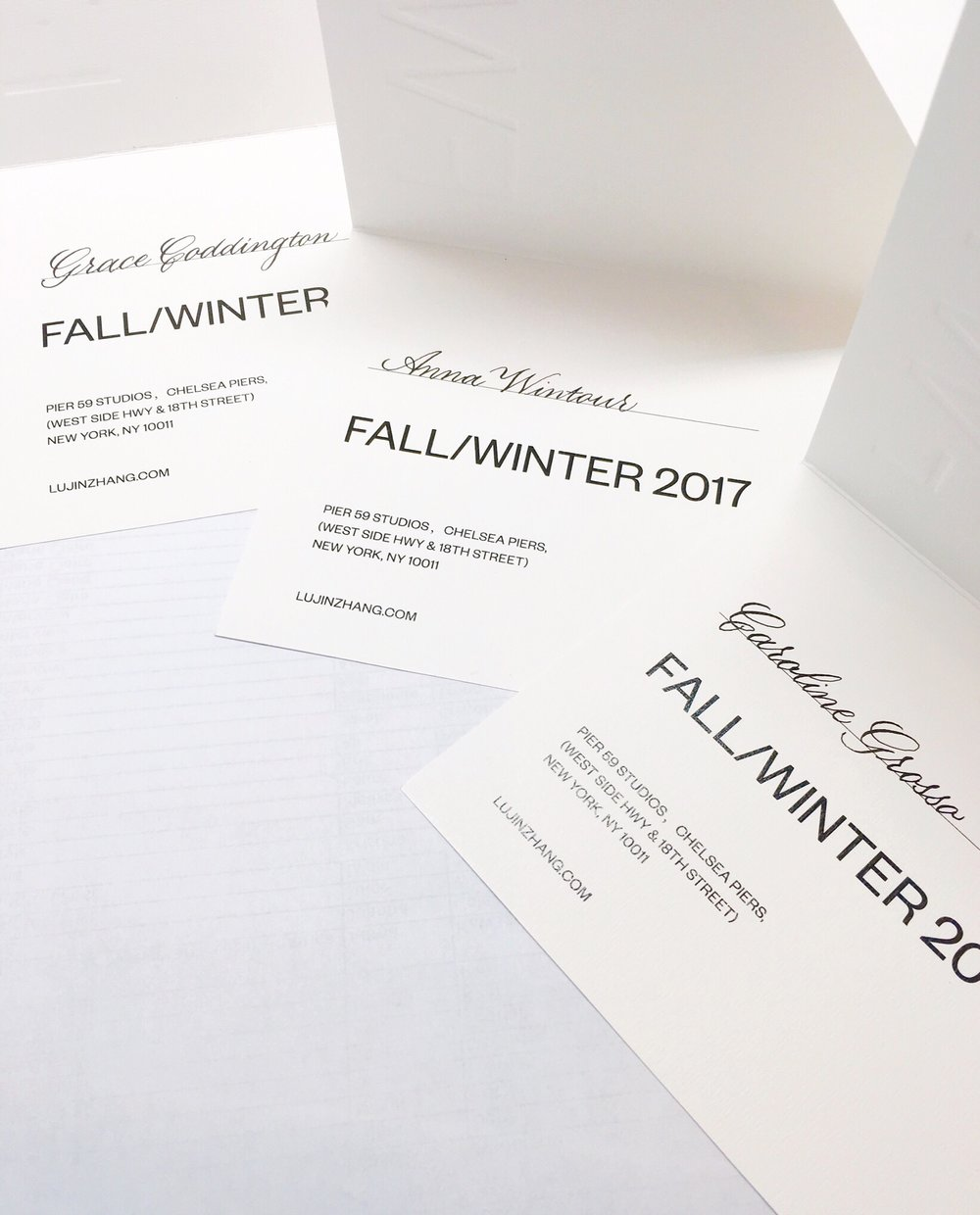 Custom calligraphy for New York Fashion Week invitations // by Chavelli www.chavelli.com