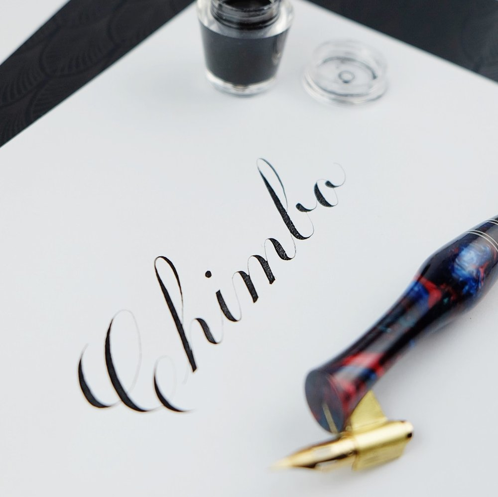 Script calligraphy // by Chavelli www.chavelli.com