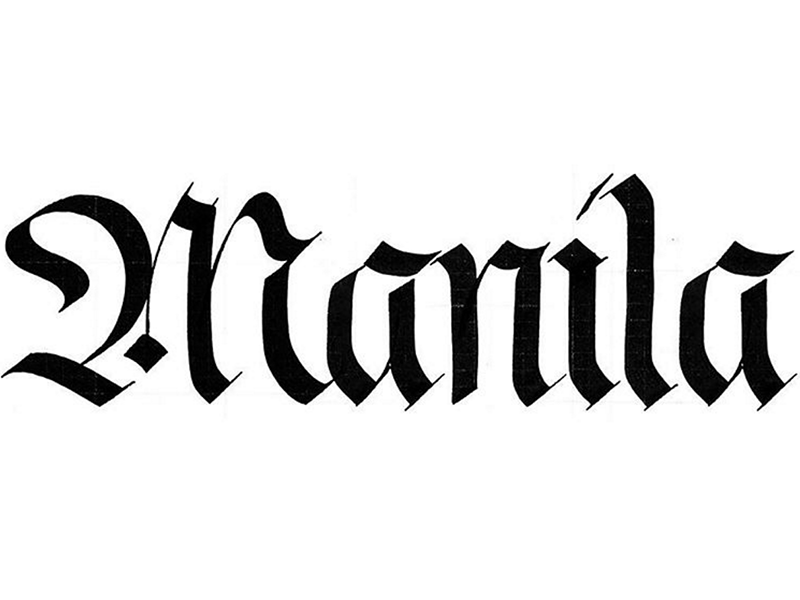 Manila written in Fraktur Blackletter // Calligraphy by Chavelli www.chavelli.com