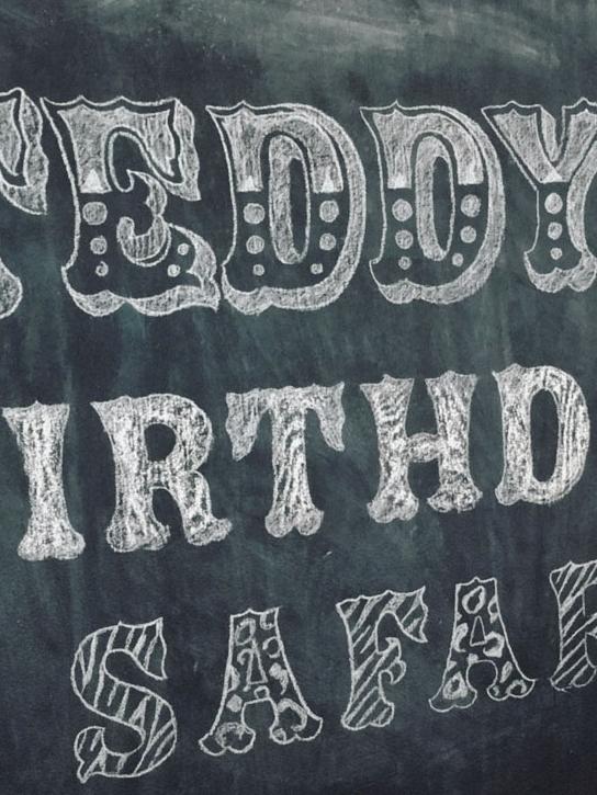 Whimsical chalkboard lettering
