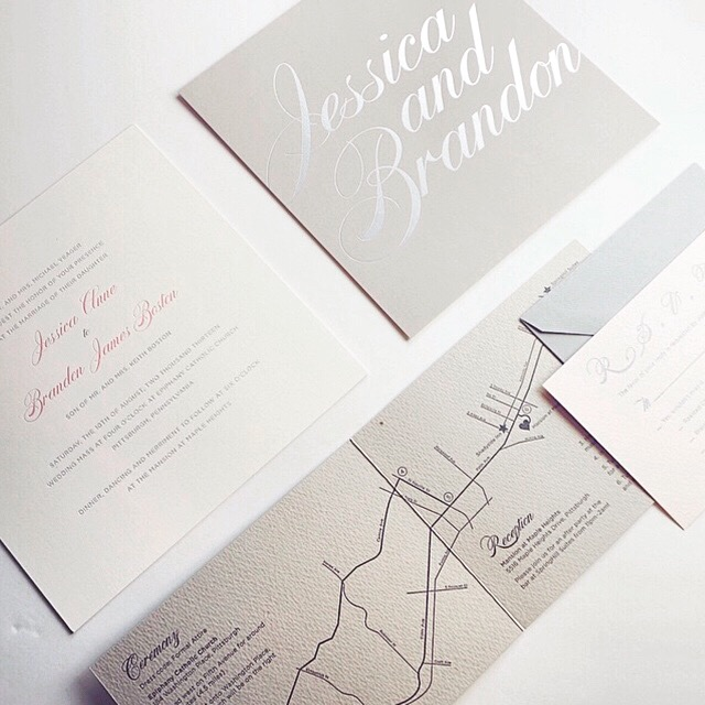 Directions map for wedding invitations // by Chavelli www.chavelli.com
