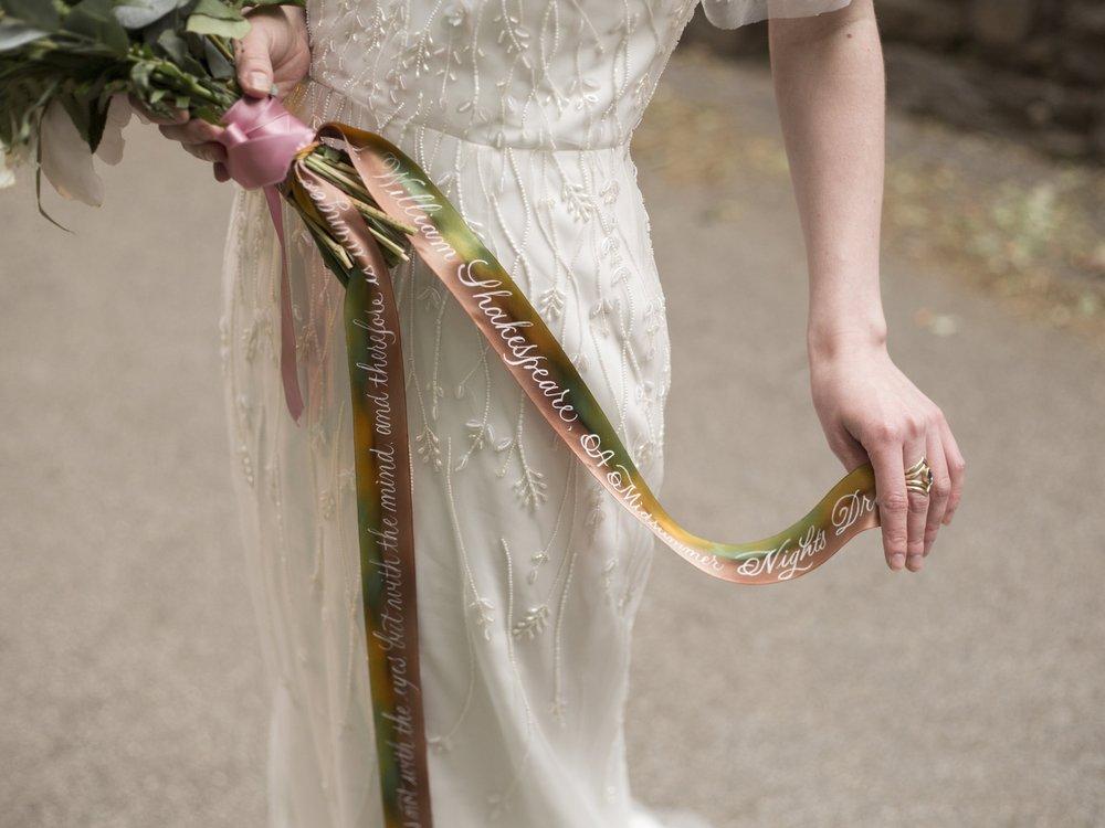 Silk Ribbon Calligraphy