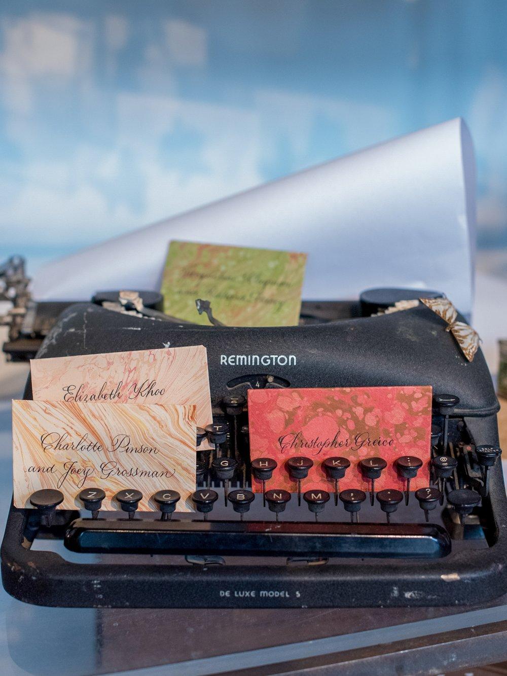 Marbled Calligraphy Escort Envelopes