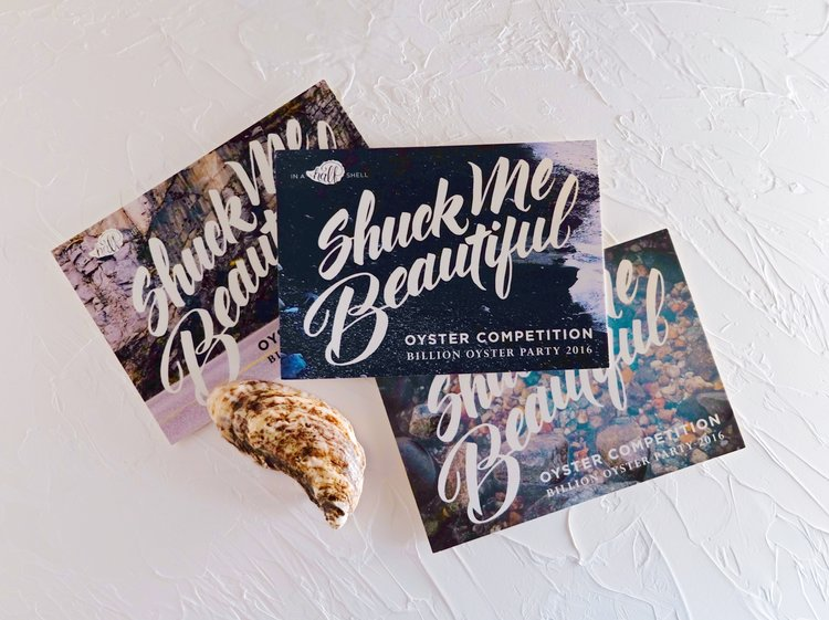 """Shuck Me Beautiful"" hand-lettering for In A Half Shell // by Chavelli www.chavelli.com"