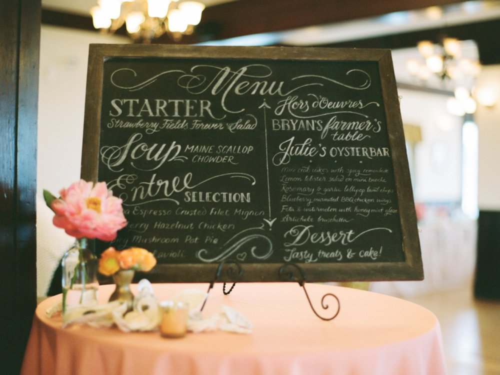 Hand-lettered Cocktail Hour Chalkboard Menu // by Chavelli www.chavelli.com