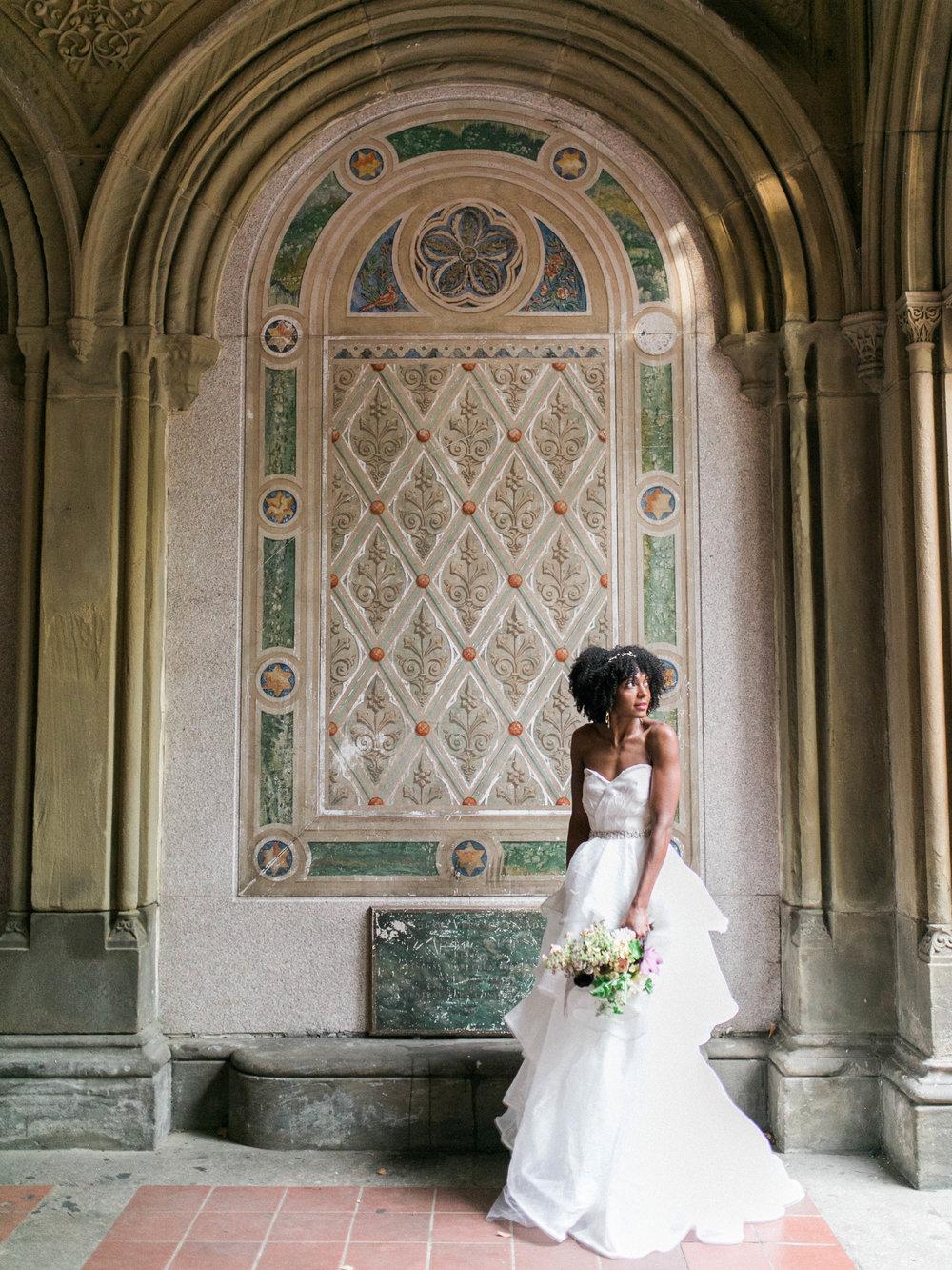 Central Park bridal shoot