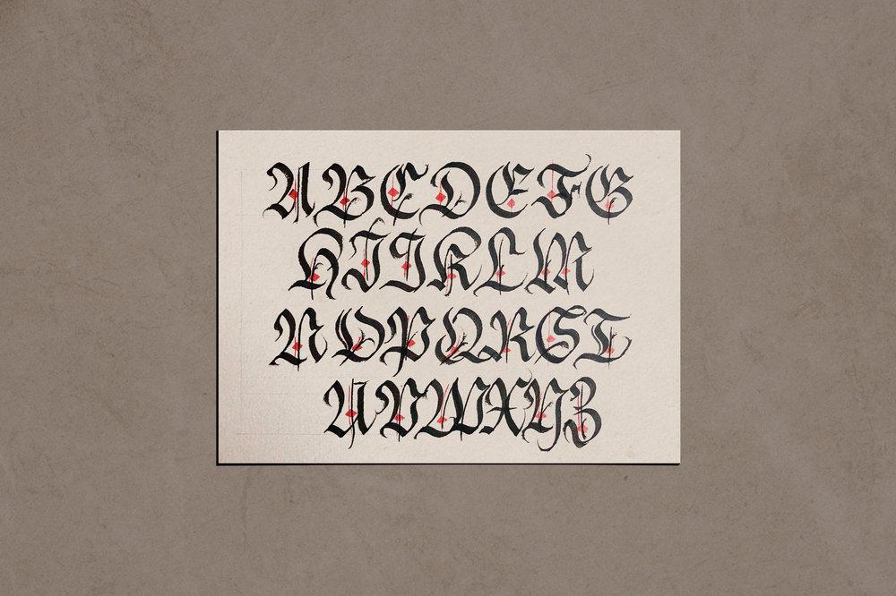 Blackletter fraktur majuscules | www.chavelli.com