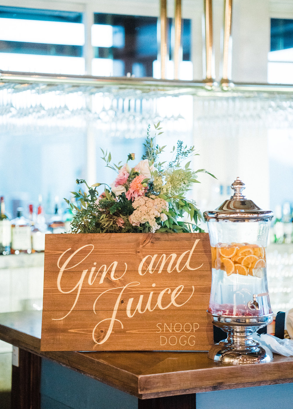 Wedding decor: song titles lettered onto wood signs | by www.chavelli.com