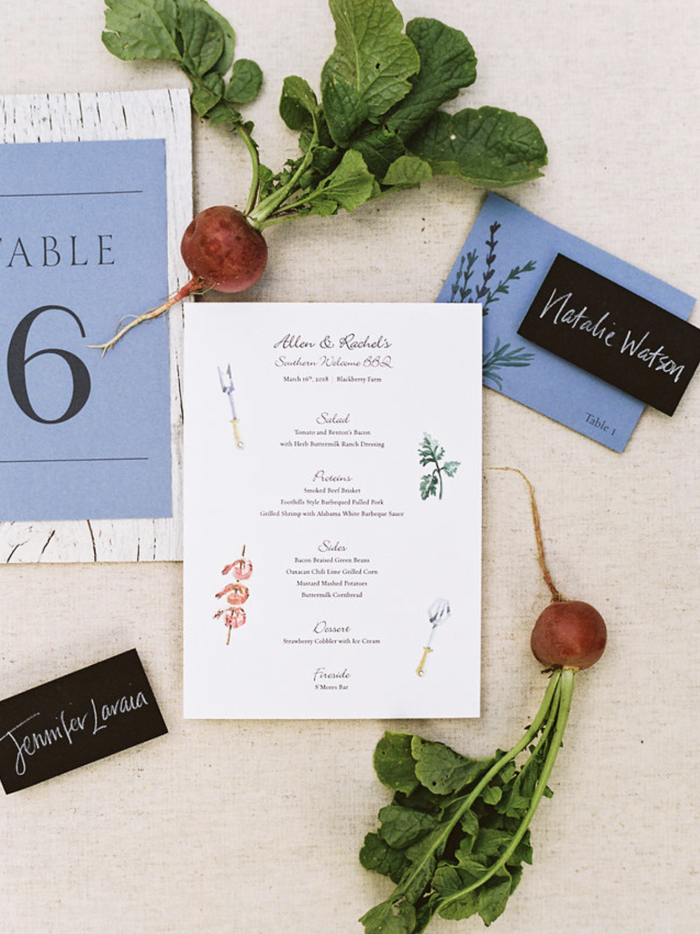 Wedding Rehearsal Dinner stationery and calligraphy | by www.chavelli.com