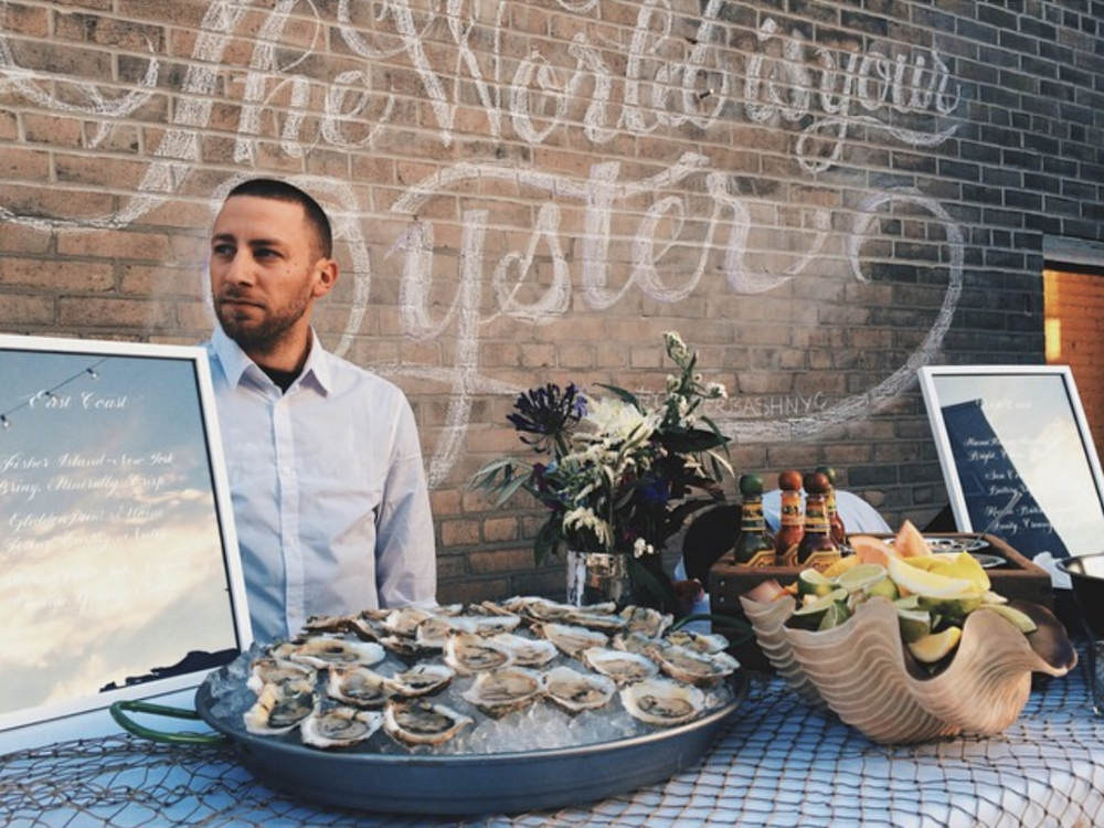 The World Is Your Oyster outdoor chalk mural | by www.chavelli.com