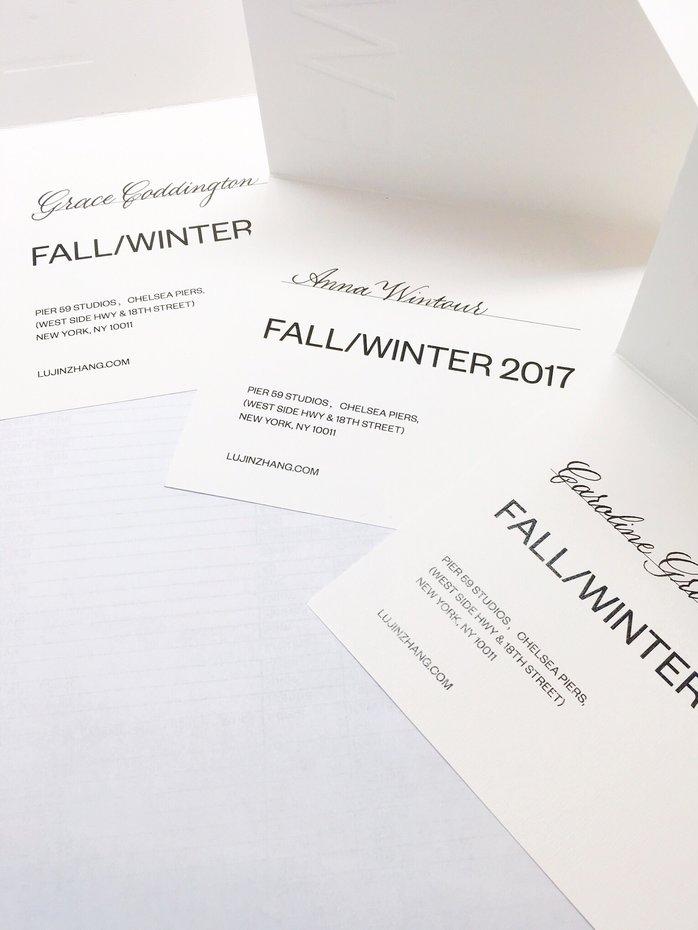 Lujin Zhang Fashion Week Invitation | calligraphy by www.chavelli.com