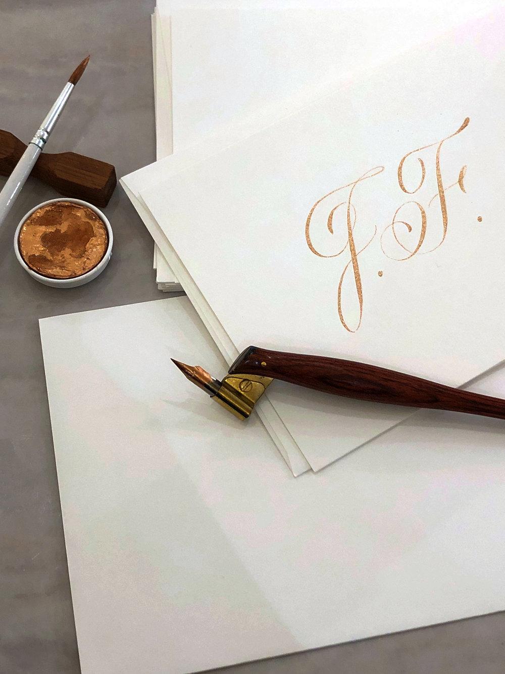 Jimmy Choo custom calligraphy | www.chavelli.com