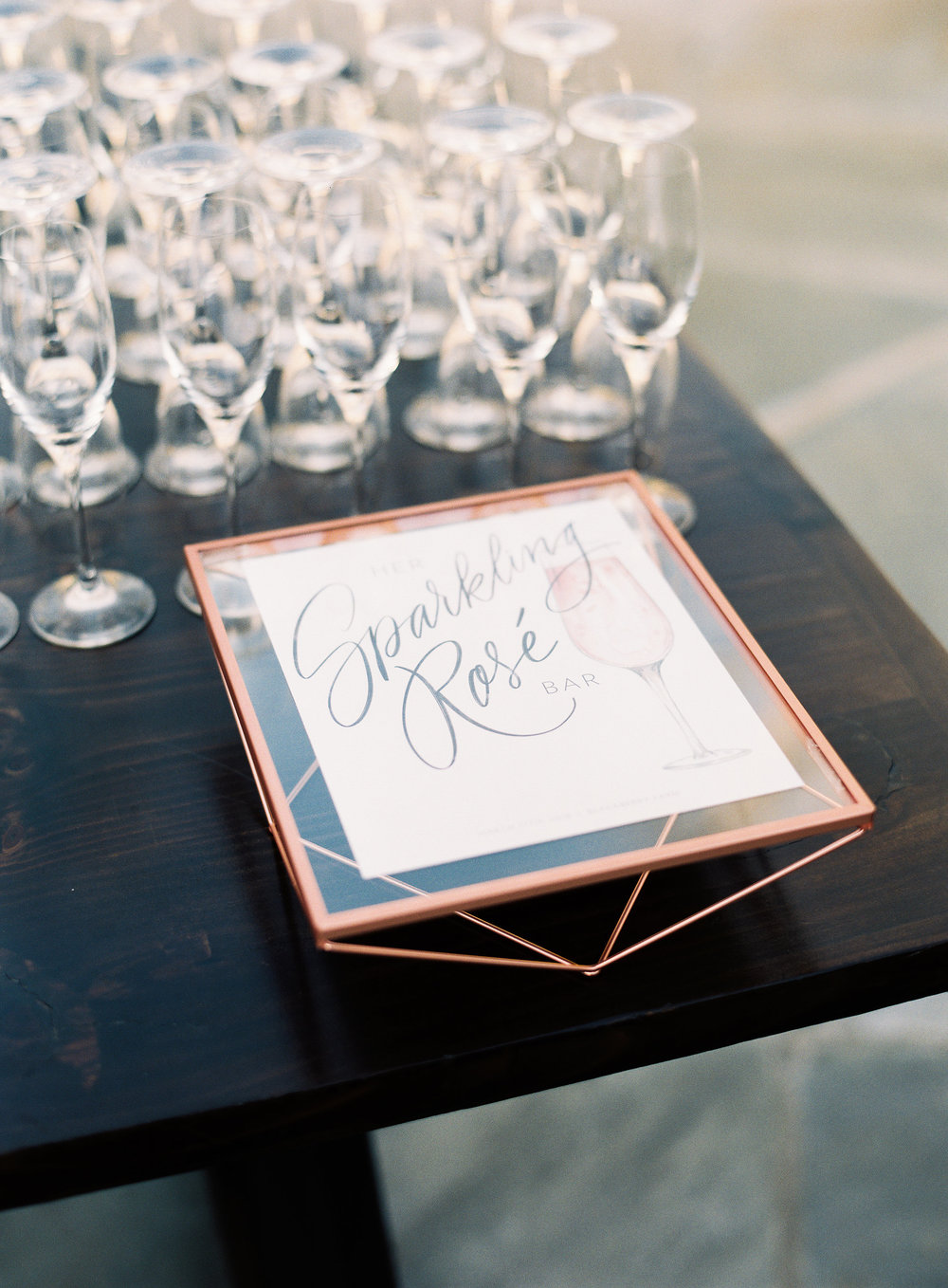 Wedding signature cocktail sign with original illustration and lettering   by Chavelli www.chavelli.com