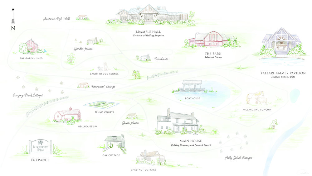Blackberry Farm custom venue illustration   by www.chavelli.com