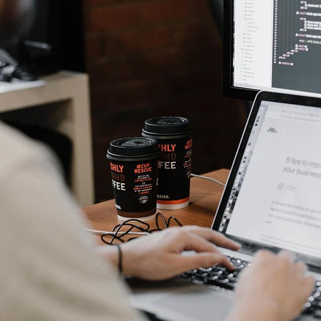 How to identify the developer in your coworking space:⠀ -Shy⠀ -Dual wielding coffees⠀ -Dual wielding screens⠀ -Probably building a Matrix to trap you in⠀ -⠀ -⠀ -⠀ -⠀ -⠀ #framework #frameworkers #coworking #melbournecreatives #freelance #behindthescenes #BTS #photographymelbourne #behindthecamera #photographer #creative#branding #melbourne #community #instadaily #melbournelife #creativelifehappylife #creativeagency #coworkingspace #coworkingcommunity