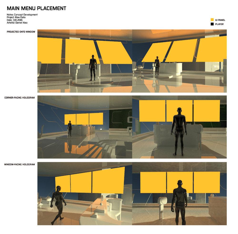 VR Menu Design
