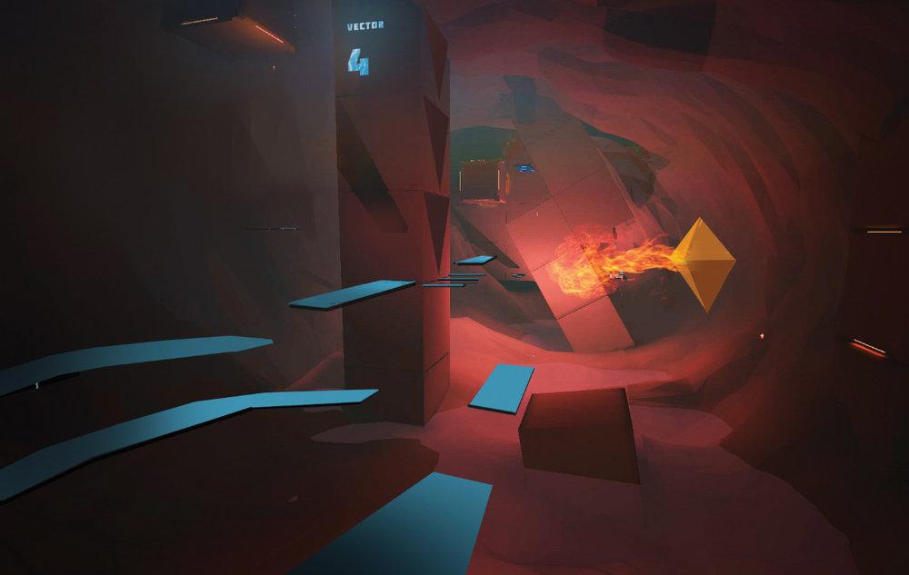 Desert zone underground concept art.