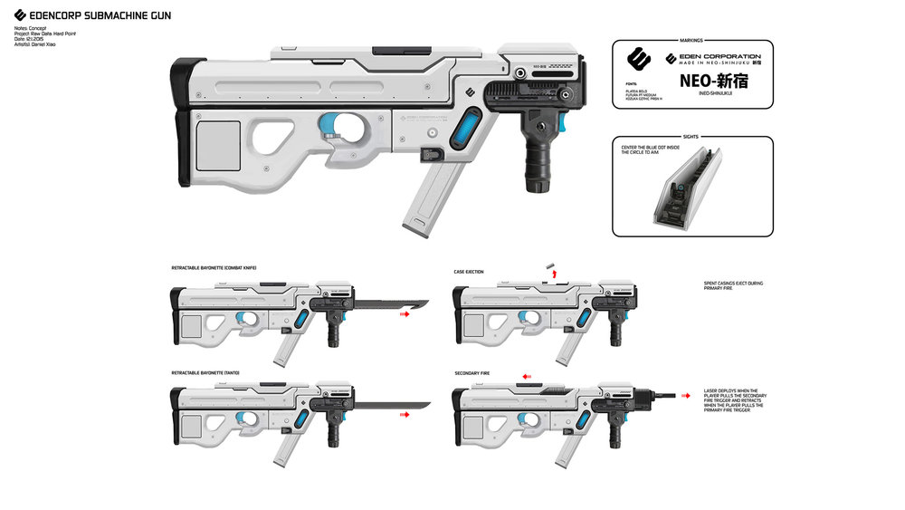 Weapon design for  Raw Data (2017) .