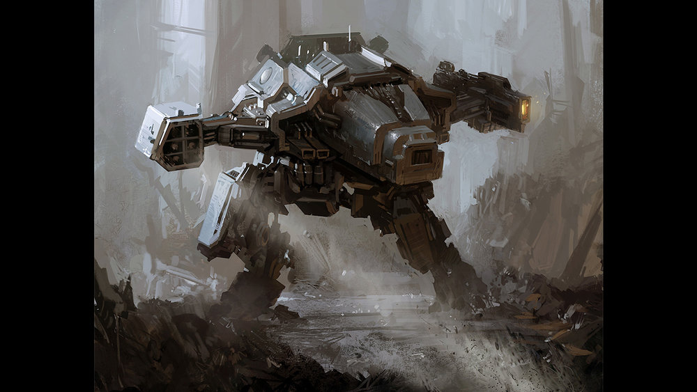 Assault mech illustration.