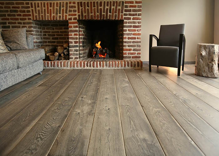 FRENCH OAK WOOD FLOORS GREY PLANK