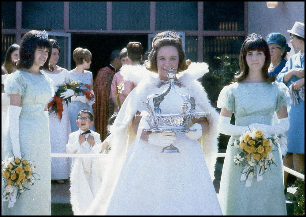 1967 Festival Queen - Annette Medina Fagundes   Sidemaids - Cynthia Homen & Nancy Rose Schroder